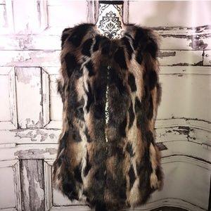 Via Spiga Medium Faux Fur Vest